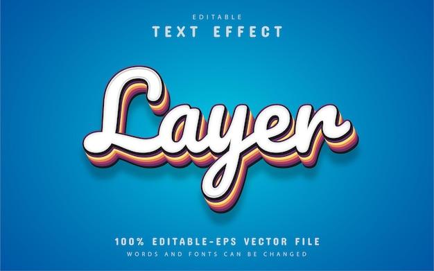 Tekst warstwy, edytowalny efekt tekstowy 3d