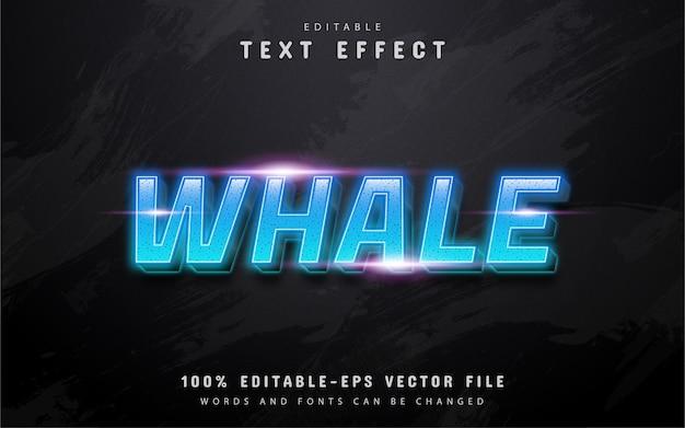 Tekst wieloryba, edytowalny efekt tekstowy z niebieskim gradientem