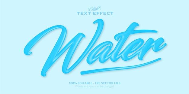 Tekst wodny, edytowalny efekt tekstowy