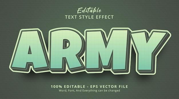 Tekst wojskowy na temat fantazyjnego efektu stylu, edytowalny efekt tekstowy