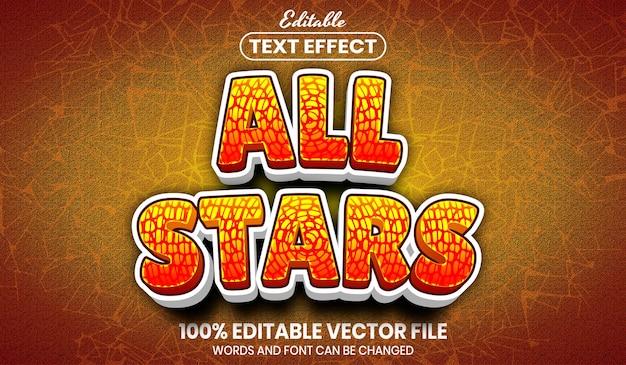 Tekst wszystkich gwiazdek, edytowalny efekt tekstowy w stylu czcionki style