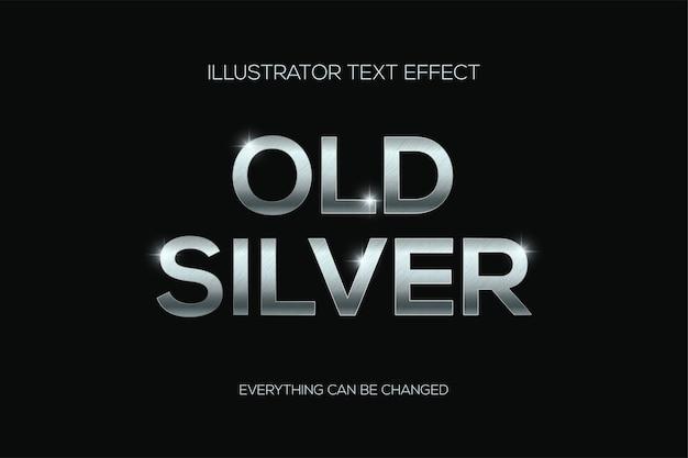Tekst z efektem starego srebra z zadrapaniami