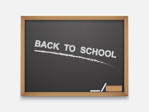 Tekst z powrotem do szkoły na tablicy