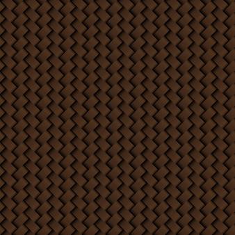 Tekstura brązowa skóra wyplata bezszwowego wzór