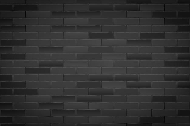 Tekstura czarny mur z cegły.