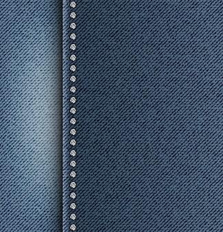 Tekstura dżinsów z bocznym paskiem
