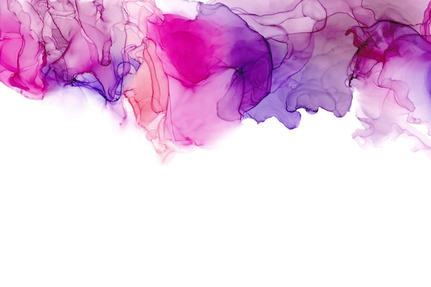 Tekstura morza atramentu alkoholu. płynny atrament streszczenie tło. kolorowy abstrakcyjny obraz tła