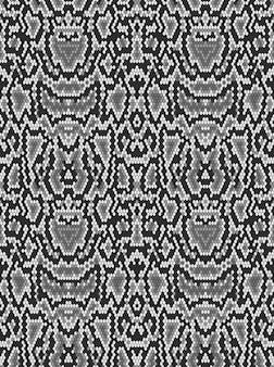 Tekstura skóry węża pythona. wzór czarno na białym tle.