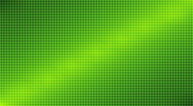Tekstura telewizora led. wyświetlacz cyfrowy. monitor lcd. zielona ściana wideo. tło telewizyjne