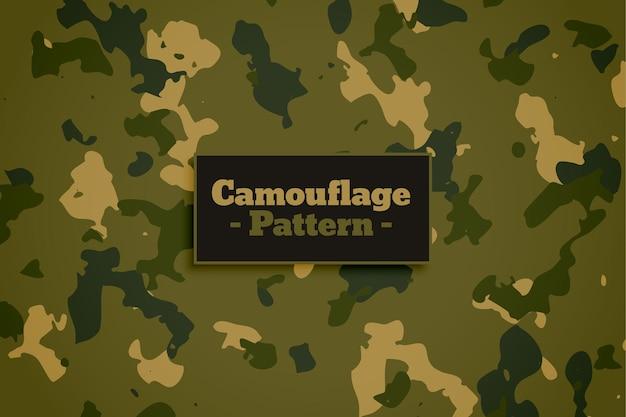 Tekstura tkaniny w stylu kamuflażu wojskowego armii