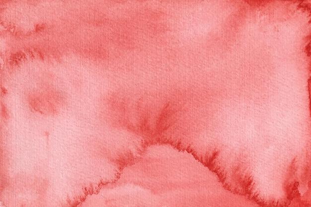 Tekstura tło akwarela w kolorze czerwonym