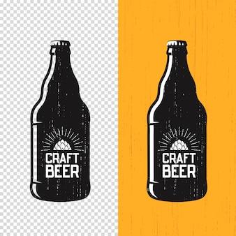 Teksturowana etykieta butelki piwa rzemieślniczego