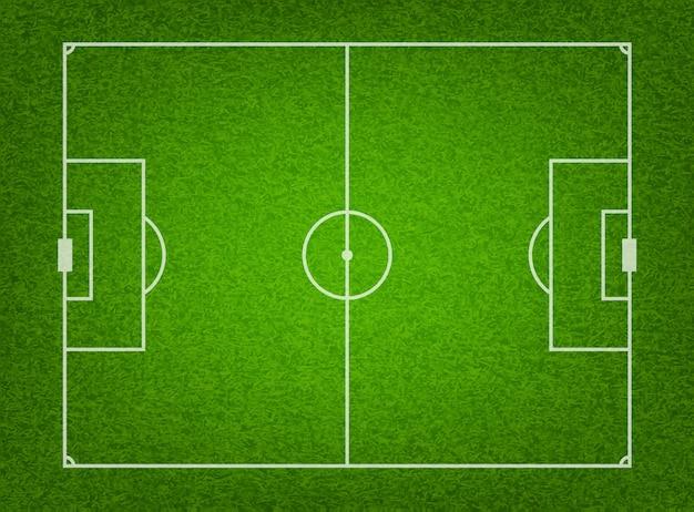 Teksturowane boisko do piłki nożnej z trawy.