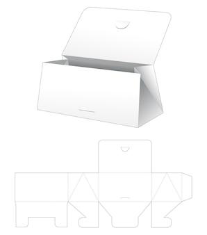 Tekturowa klapka trójkątna torebka wycięta szablon