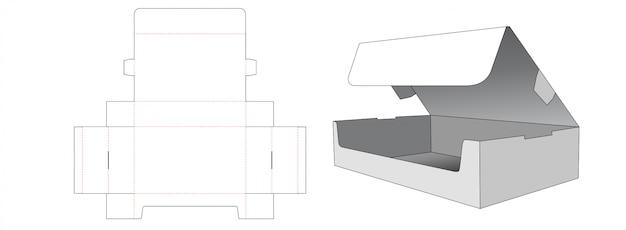 Tekturowe pudełko do pakowania wykrojone szablon