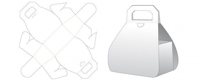 Tekturowe pudełko wycięte szablon projektu