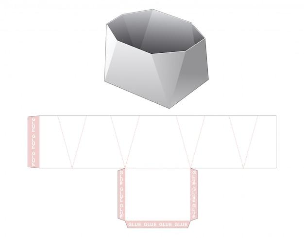 Tekturowy pojemnik na przekąski pudełko wycinany szablon projektu