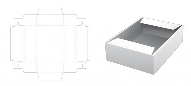 Tekturowy pojemnik na żywność wycinany szablonem