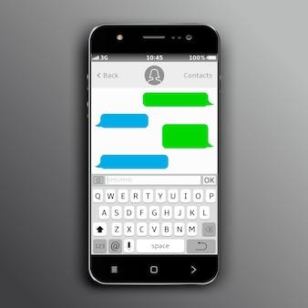 Telefon komórkowy z aplikacją do czatowania
