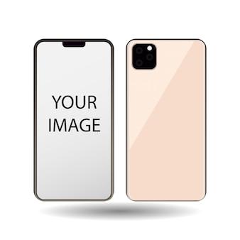 Telefon komórkowy z białym ekranem