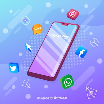 Telefon komórkowy z ikonami aplikacji