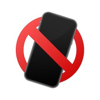 Telefon komórkowy zabroniony. brak znaku telefonu komórkowego.