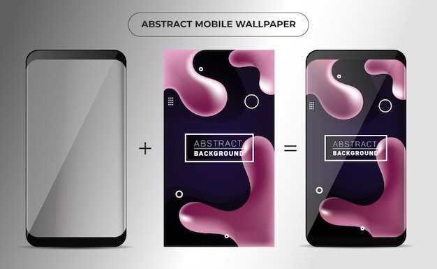 Telefon liquefy abstract wallpaper
