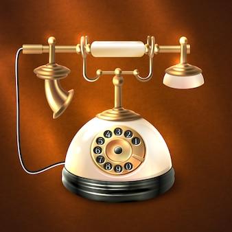 Telefon w stylu retro