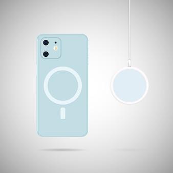 Telefon z bezprzewodową ładowarką magsafe