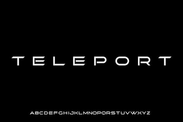 Teleport, futurystyczna nowoczesna geometryczna czcionka