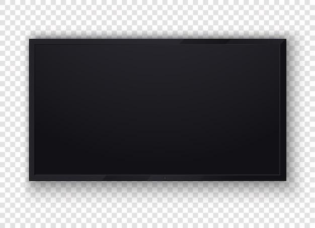 Telewizja cyfrowa, ilustracja nowoczesny pusty ekran lcd