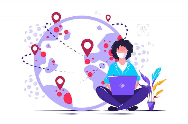 Telewizja i biuletyn czyta usługi koncepcyjne osób w celu dostarczania informacji za pomocą stron internetowych