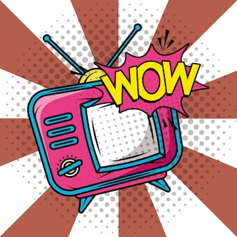 Telewizor w stylu retro pop-artu