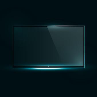 Telewizor z płaskim ekranem icd.
