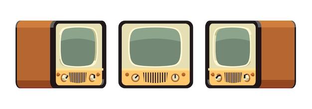 Telewizory Retro Premium Wektorów