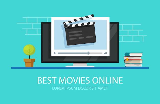 Telewizyjny odtwarzacz wideo z tablicą klapy filmowej lub multimedialną telewizją online