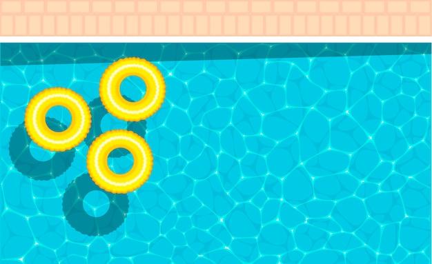 Temat morski z żółtym pływakiem w basenie