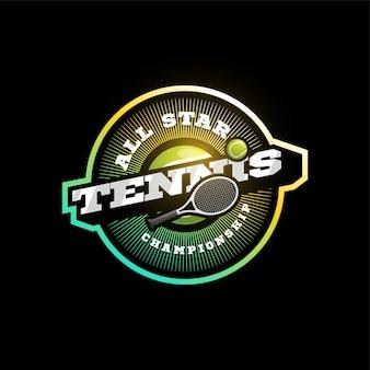 Tenis nowoczesny profesjonalny sport typografia logotyp w stylu retro. emblemat, odznaka i logo szablon sportowy