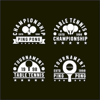 Tenis stołowy ping pong vintage logos kolekcje