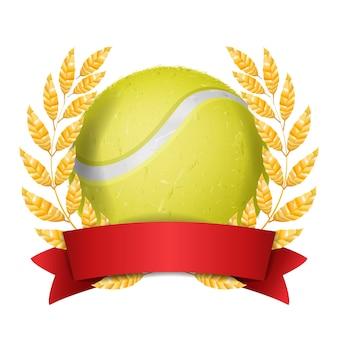 Tenisowa nagroda z tasiemkową ilustracją