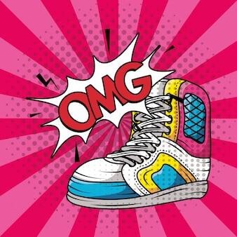 Tenisowe buty sportowe w stylu pop-art