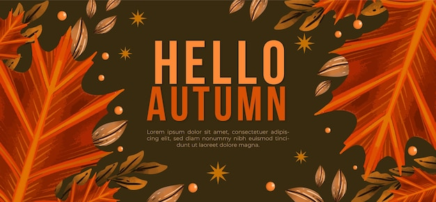 Tenokate akwarela jesienny poziomy baner