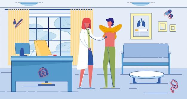 Terapeuta lub lekarz podstawowej opieki zdrowotnej i pacjent.