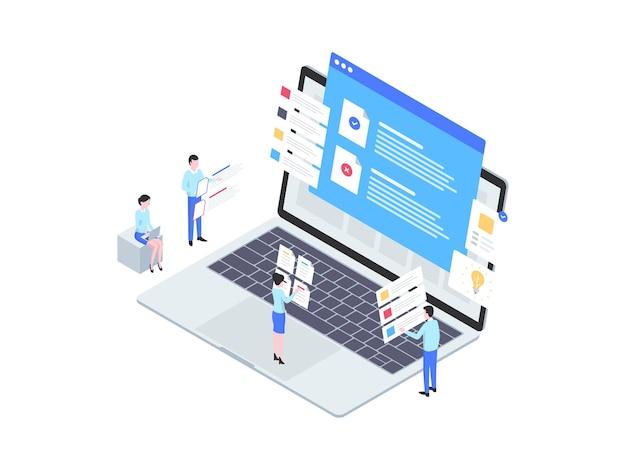 Termin i warunek izometryczny ilustracja. nadaje się do aplikacji mobilnych, stron internetowych, banerów, diagramów, infografik i innych zasobów graficznych.