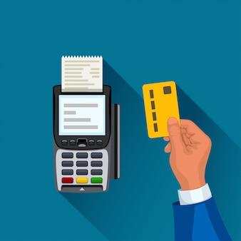 Terminal płatniczy i ręka