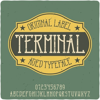 Terminal rocznika napis