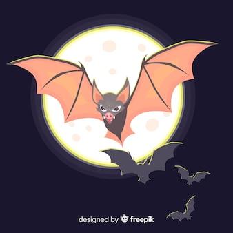 Terrific halloween bat z płaska konstrukcja
