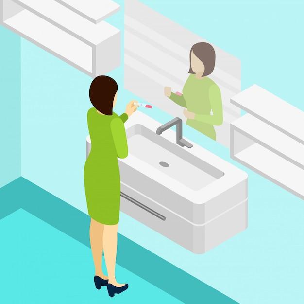 Test ciążowy izometryczny ilustracja