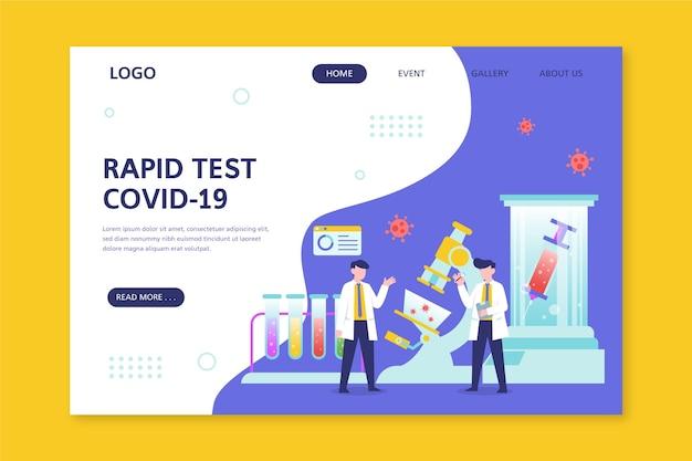 Testowa strona docelowa covid-19