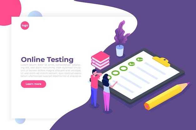 Testy online, e-learning, koncepcja izometryczna edukacji.